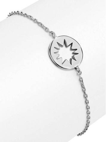 Silver Chain Bracelet With Cut Out Element The Enigma, image , picture 3