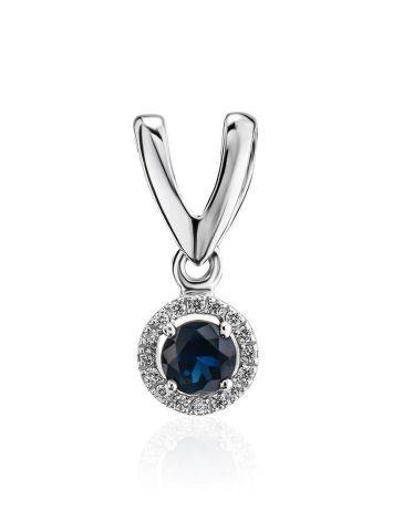 Classy Golden Pendant With Sapphire And Diamonds, image