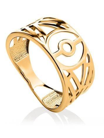 Amazing Geometric Band Ring, Ring Size: 6.5 / 17, image