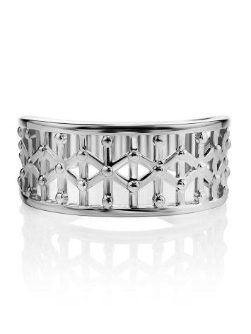 Geometric Silver Band Ring The Sacral, Ring Size: 6.5 / 17, image , picture 3