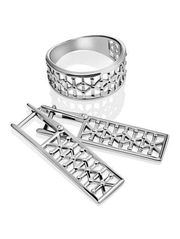 Stylish Geometric Silver Earrings The Sacral, image , picture 3