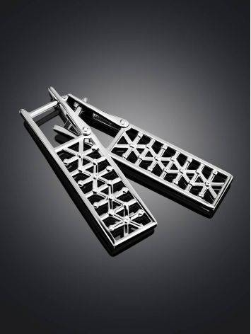 Stylish Geometric Silver Earrings The Sacral, image , picture 2