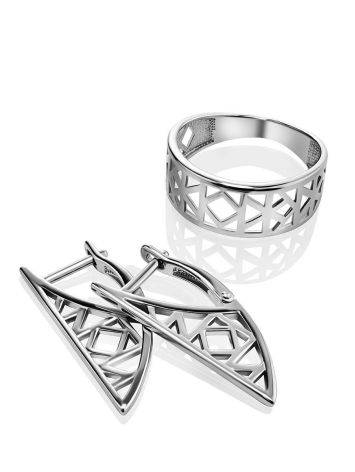 Laced Silver Band Ring The Sacral, Ring Size: 6.5 / 17, image , picture 4
