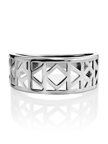 Laced Silver Band Ring The Sacral, Ring Size: 6.5 / 17, image , picture 3