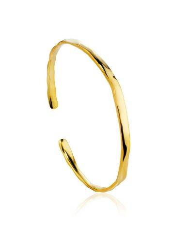 Luxurious Gold-Plated Silver Bangle The Liquid, image