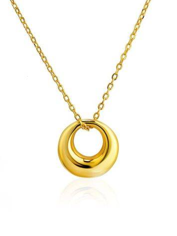 Striking Gold-Plated Silver Pendant Necklace The Liquid, image