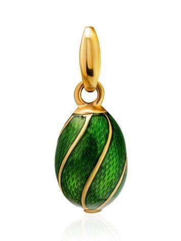 Luminous Green Enamel Egg Shaped Pendant The Romanov, image