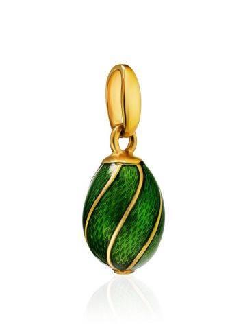 Luminous Green Enamel Egg Shaped Pendant The Romanov, image , picture 3