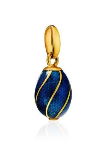 Blue Enamel Egg Shaped Pendant The Romanov, image , picture 3