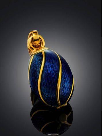 Blue Enamel Egg Shaped Pendant The Romanov, image , picture 2