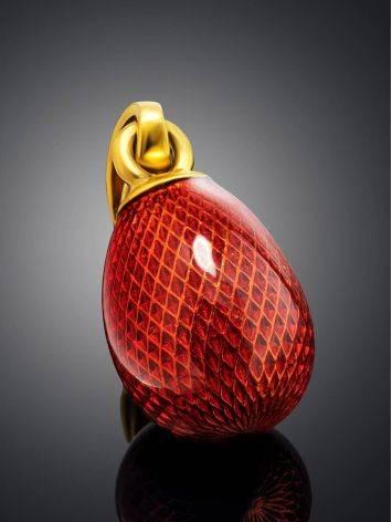 Red Enamel Egg Shaped Pendant The Romanov, image , picture 2