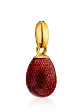 Red Enamel Egg Shaped Pendant The Romanov, image , picture 3