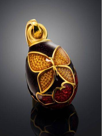 Butterfly Motif Egg Shaped Pendant With Enamel The Romanov, image , picture 2