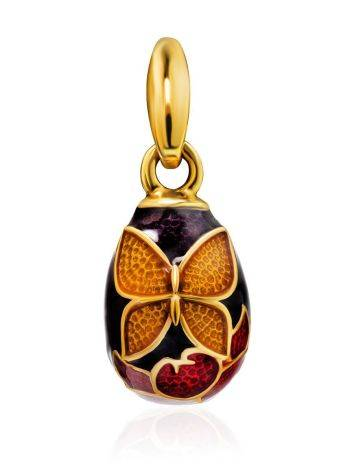 Butterfly Motif Egg Shaped Pendant With Enamel The Romanov, image