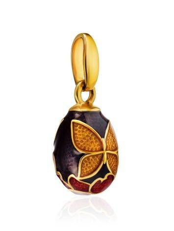 Butterfly Motif Egg Shaped Pendant With Enamel The Romanov, image , picture 3