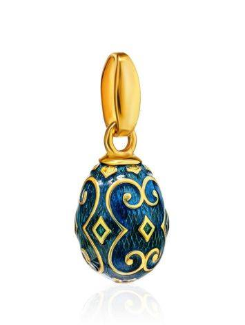 Ornate Gold Plated Egg Shaped Pendant With Enamel The Romanov, image , picture 3