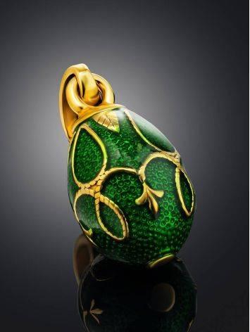 Green Enamel Egg Shaped Pendant The Romanov, image , picture 2