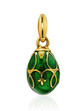 Green Enamel Egg Shaped Pendant The Romanov, image