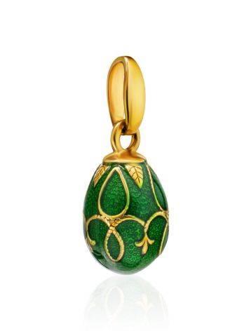 Green Enamel Egg Shaped Pendant The Romanov, image , picture 3