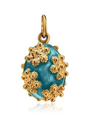 Gold Plated Egg Shaped Pendant With Enamel The Romanov, image