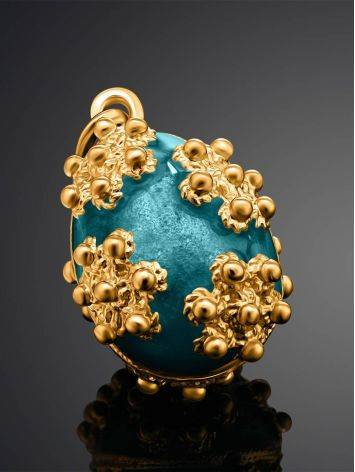 Gold Plated Egg Shaped Pendant With Enamel The Romanov, image , picture 2