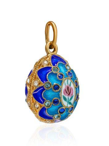 Amazing Multicolor Enamel Egg Shaped Pendant With Crystals The Romanov, image , picture 3