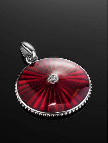 Glossy Round Pendant With Enamel And Diamond The Heritage, image , picture 2