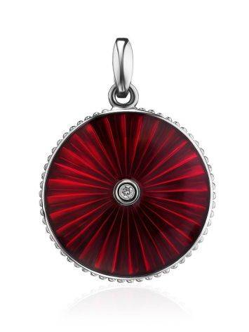 Glossy Round Pendant With Enamel And Diamond The Heritage, image