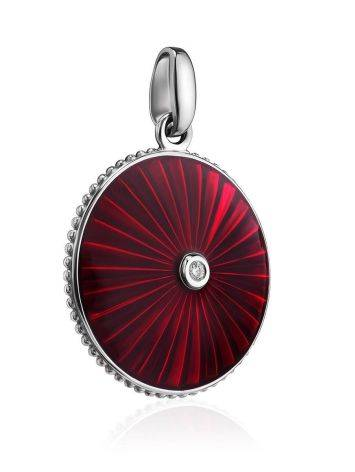 Glossy Round Pendant With Enamel And Diamond The Heritage, image , picture 3