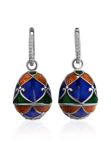 Enamel Egg Shaped Dangles With Crystals The Romanov, image , picture 3