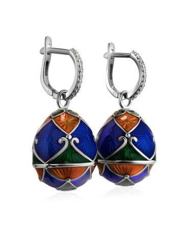 Enamel Egg Shaped Dangles With Crystals The Romanov, image