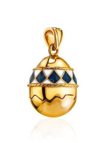 Gold Plated Silver Egg Locket Pendant With Two Toned Enamel The Romanov, image , picture 3