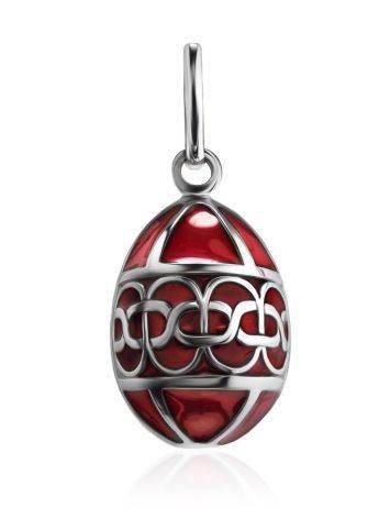 Red Enamel Egg Shaped Pendant The Romanov, image