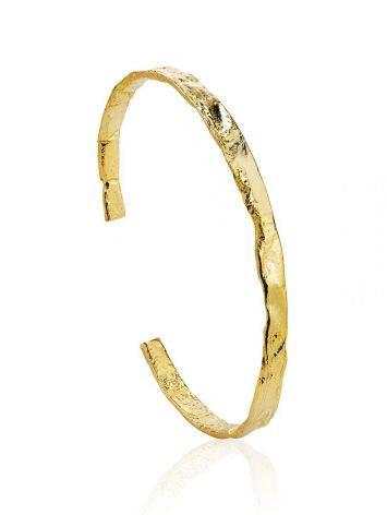 Trendy Textured Silver Bangle Bracelet The Liquid, image
