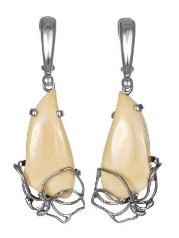 Elegant Handcrafted Dangle Earrings With Mammoth Tusk The Era, image