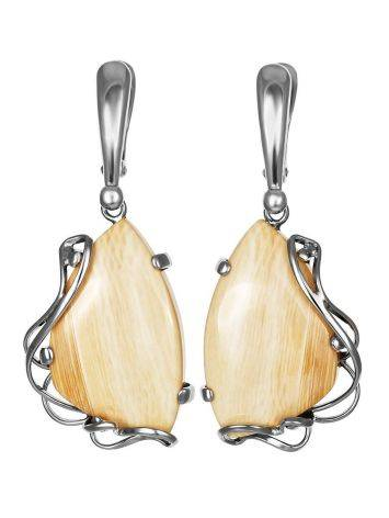 Bold Silver Dangles With Mammoth Tusk The Era, image