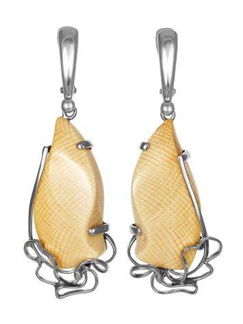 Extraordinary Silver Dangles With Mammoth Tusk The Era, image