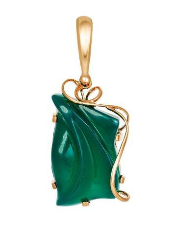 Green Onyx Silver Pendant The Serenade, image