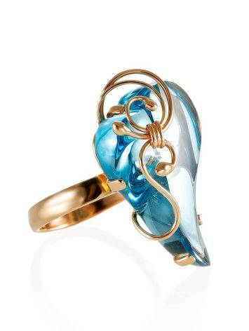 Voluptuous Gold Topaz Cocktail Ring The Serenade, Ring Size: Adjustable, image
