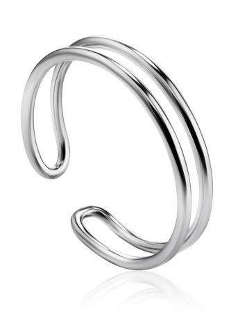 Minimalistic Sterling Silver Ring The ICONIC, Ring Size: Adjustable, image