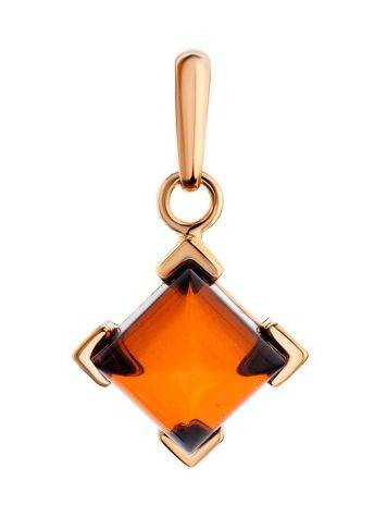 Gold-Plated Pendant With Cognac Amber The Artemis, image
