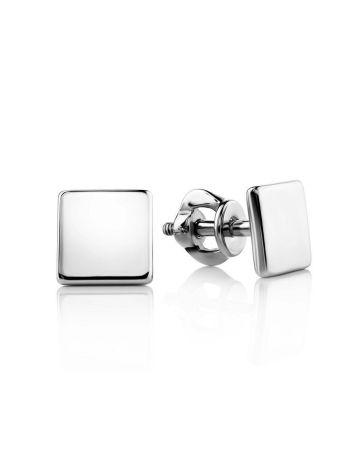 Minimalistic Square Silver Studs The Aurora, image
