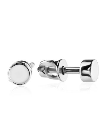 Round Sterling Silver Studs The Aurora, image